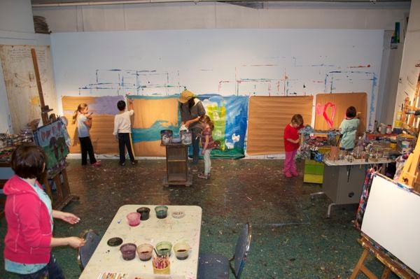 Art studio photo gallery creative art space for kids for Craft classes long island